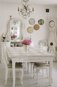 Shabby+chic+dining+room.