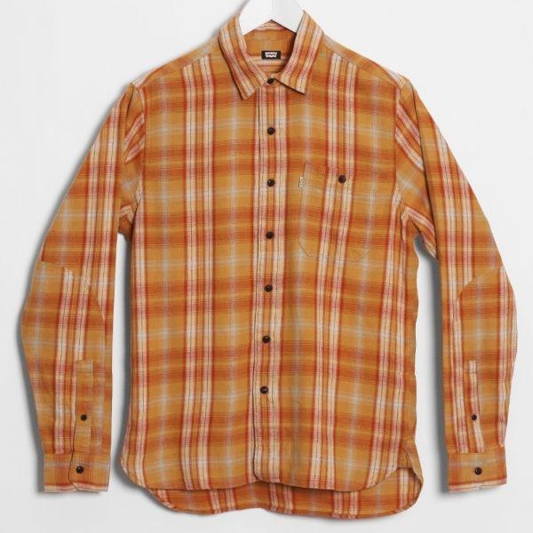 Levi's Skateboarding Maker Shirt Plaid, Honey Mustard