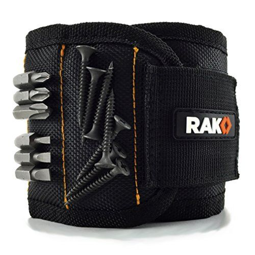 RAK Magnetic Wristband with Strong Magnets for Holding Screws, Nails, Drill Bits – Best Unique Tool Gift for DIY Handyman, Father/Dad, Husband, Boyfriend, Men, Women
