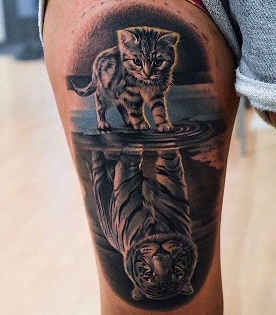 Cute Cat ist eigentlich ein Tiger. Niemals unterschätzen. #Tattoo #tattoos #ink…