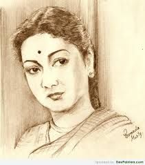 My pencil drawing of legendary South Indian actress Savitri.