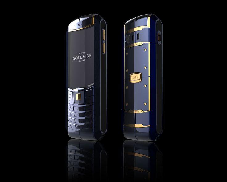 Goldvish Equilibrium - Blue Regatta,   Blue PVD metal with 18K Yellow Gold,  MSRP: €16.850,-