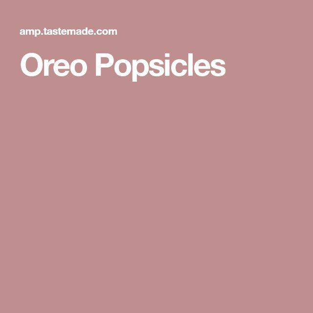 Oreo Popsicles