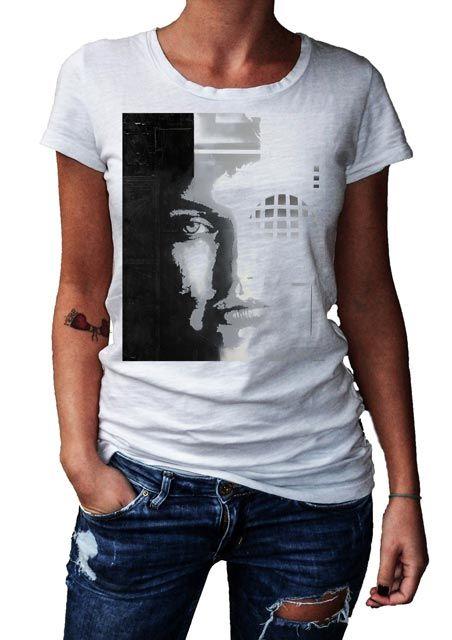 HERMAN EPIS - CYBERNETIC - T-Artist Collection - Author T-Shirt #doubleexcess #hermanepis #artist #art #artfashion #fashion #style #workofart #tshirt #tee #womenstshirt #womensclothing #womenswear #womensfashion #alternativetshirt #alternative #elegant #madeinprato #madeinitaly