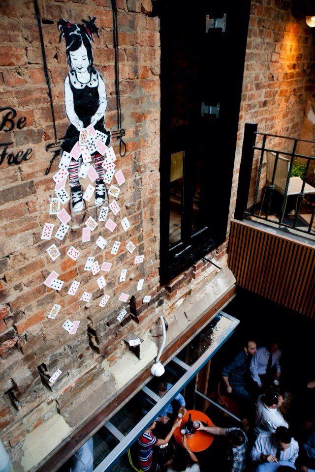 "The Bridge Hotel, Richmond  http://www.thebridgehotel.com.au/ ""Street Art"" statement - clear favourite"