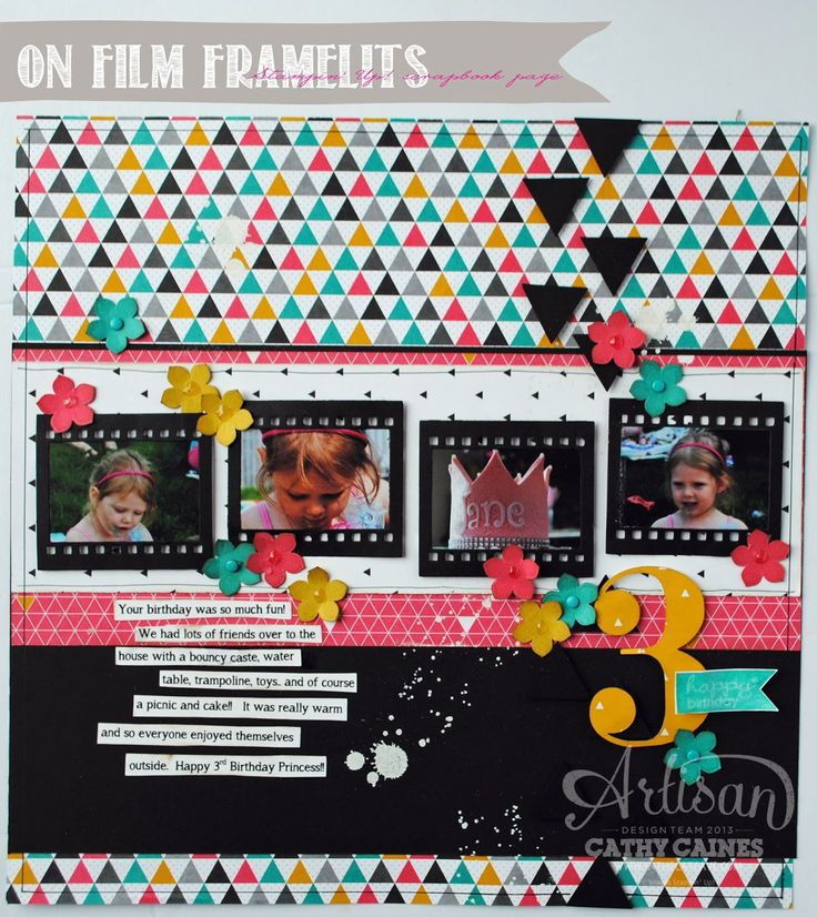 "In The Cat Cave: ""Turning Three"" Scrapbook Page 