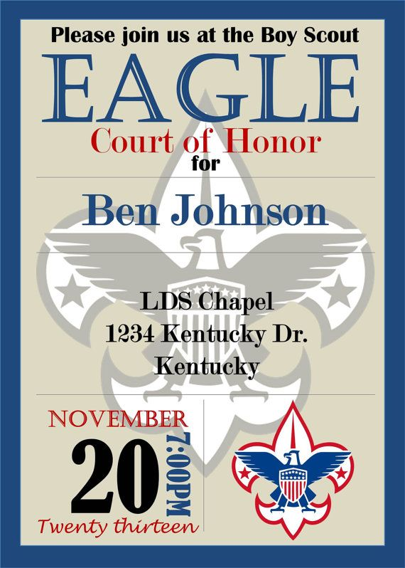 127 best eagle scout invites images on Pinterest Boy scouting Boy