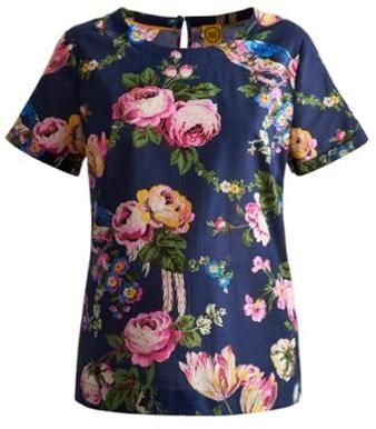 Joules Outlet Womens Top - Navy Floral