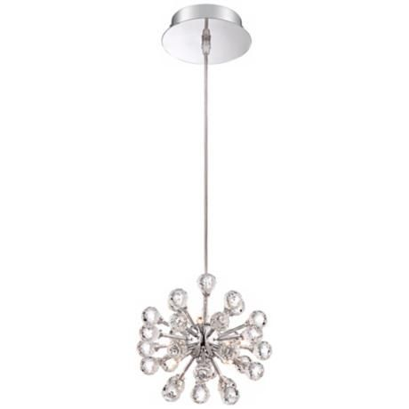 "Possini Euro Design Cassiopeia 8 1/2""W Crystal Pendant Light"