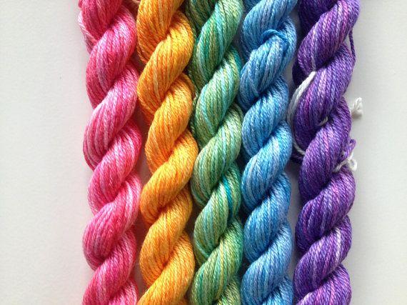 Mini Skeins - Rainbow Yarn!