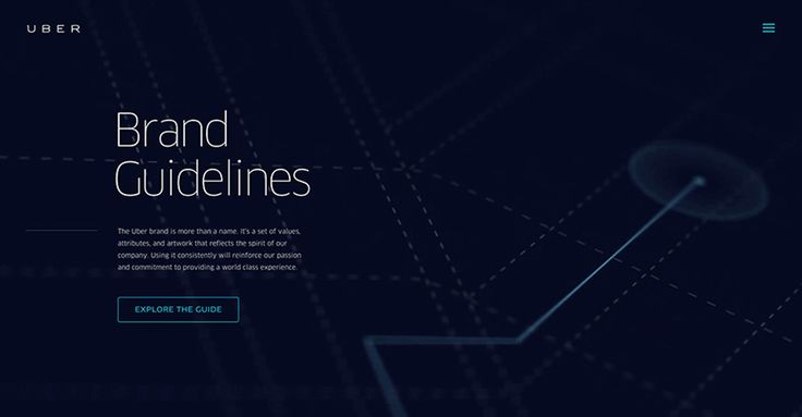 UBER Brand Guidelines. Pattern library for the web.