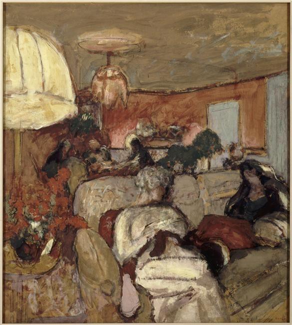 Edouard Vuillard, Le canapé - madame Hessel à Vaucresson, au Clos-Cézanne, 1920