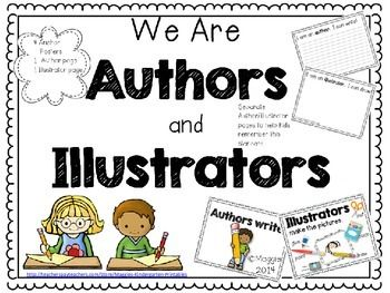 Getting students in the early grades to understand and identifywho/what the author and illustrator are is a major challenge. I  began to use separate pages during writers workshop to clarifywhat we do when we are Mr./Miss Author/ , or Mr./Miss Illustrator.