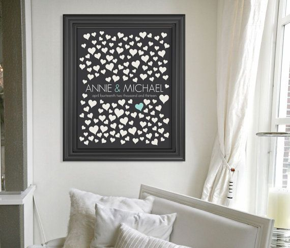 Wedding Guestbook Alternative Poster // Wedding by HARVEYGREY, $38.00