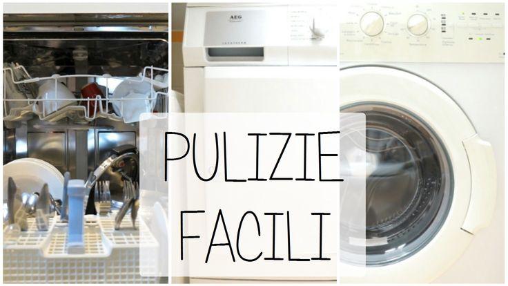Oggi vi racconto come pulisco i miei elettrodomestici più grandi e più usati: lavastoviglie, lavatrice e asciugatrice.