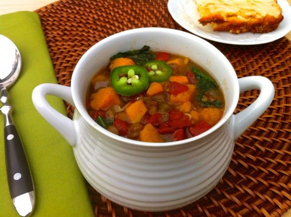 Slow Cooker Ginger Curry Lentil Soup with Sweet Potatoes: Soups ...