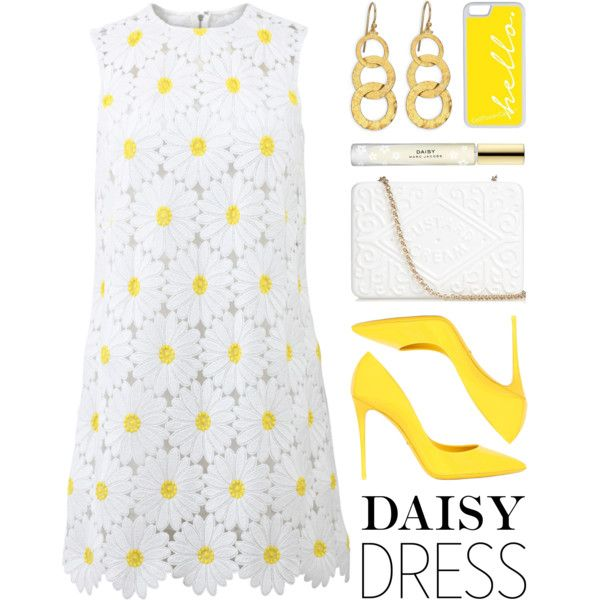 Daisy Dress by lgb321 on Polyvore featuring Dolce&Gabbana, Anya Hindmarch, Gurhan, CellPowerCases and Marc Jacobs