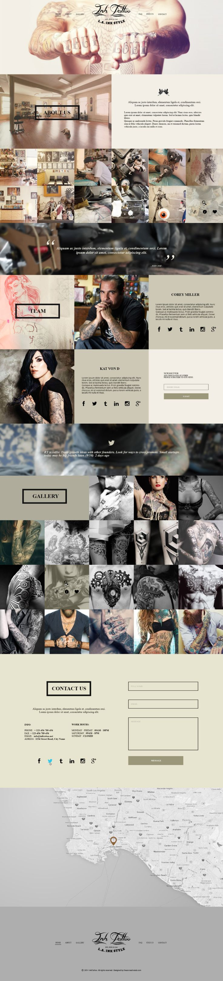 #free #bootstrap #psd preview-inktattoo