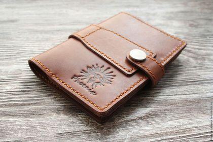 Купить Обложка для автодокументов или паспорта - коричневый, обложка для паспорта, обложка на паспорт, обложка на документы