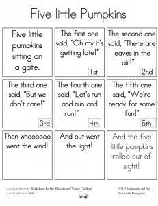 Five Little Pumpkins FREE printable book