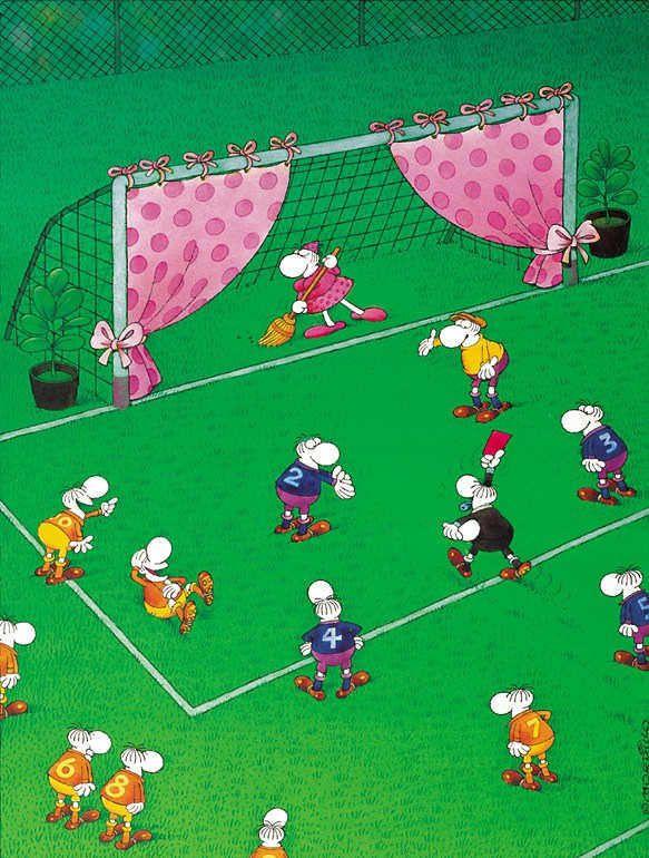 Mordillo - Limpiando la portería (fútbol)