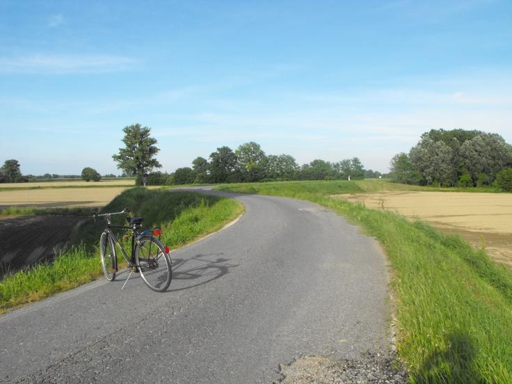 Ciclabile del Po zona Pieve D'Olmi - Provincia di Cremona - Maggio 2013