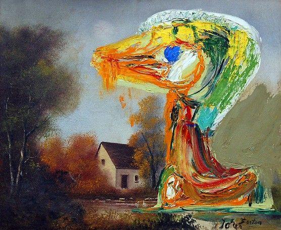 Asger Jorn- Le canard Inquietant