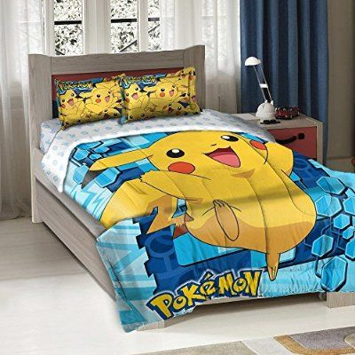 "Pokemon Big Pika Twin/Full Comforter with 2 Pillow Shams by The Northwest Company, 72"" x 86"""