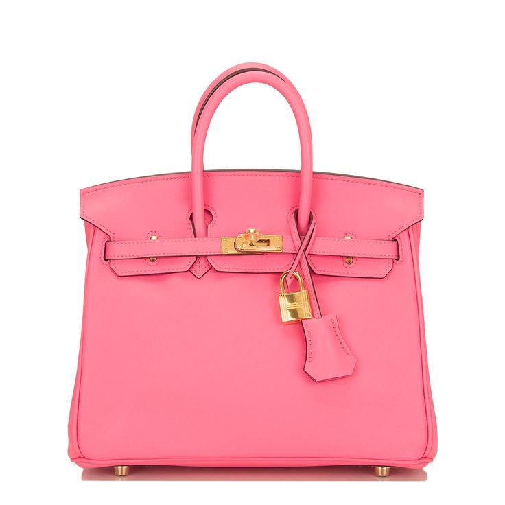 Hermes Birkin Bag 25cm Rose Azalea Swift Gold Hardware Image 1