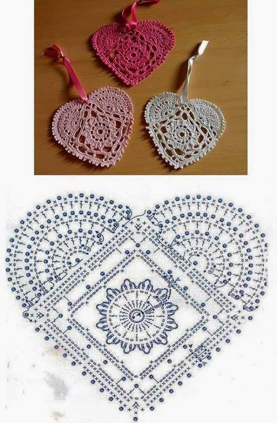 289 best Corazones a Crochet images on Pinterest | Corazones de ...
