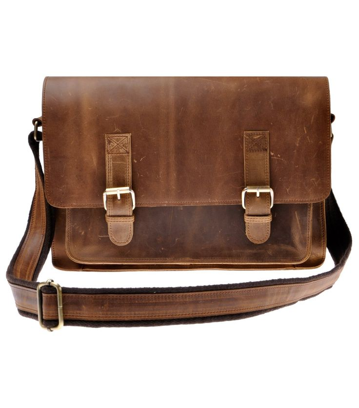 Zlyc Men S Vintage Retro Handmade Leather Briefcase 15 6 Inch Laptop Bag
