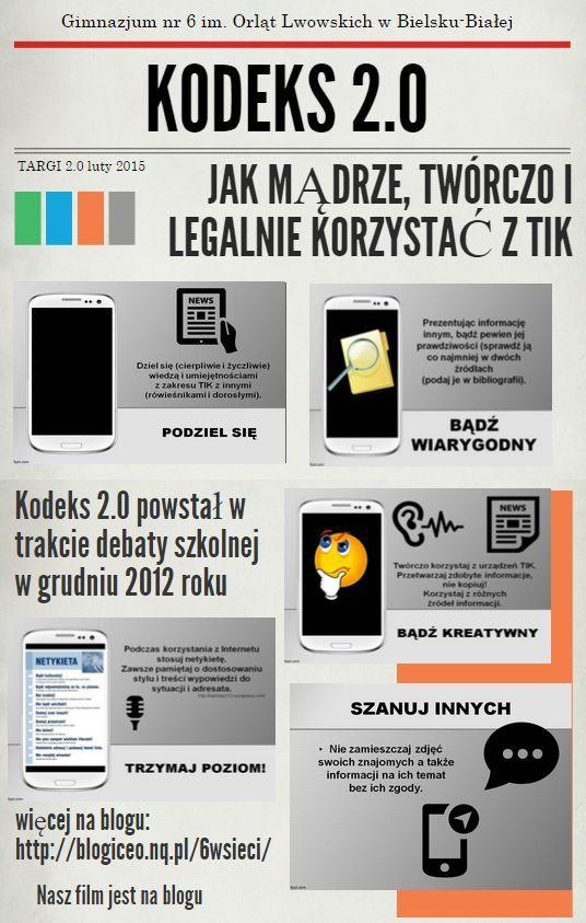 Odkrywamy piktochart, bardzo mi się podoba :) Nowa edycja, tuż przed Targami – to i Kodeks 2.0 odświeżony :)