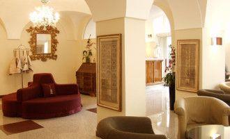 Rome, Italy - albergo-santa-chiara-lobby