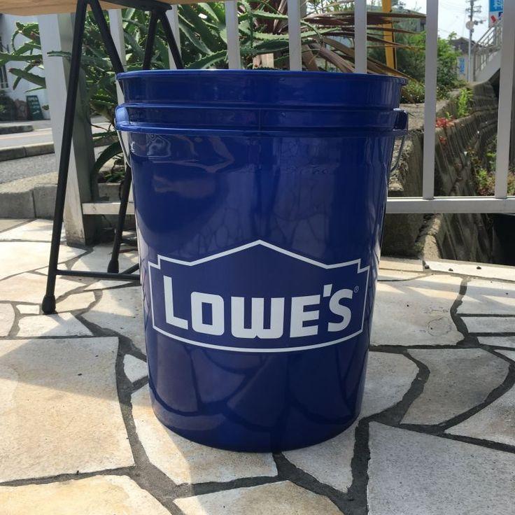 商品説明アメリカのホームセンター LOWE'S社のプラスチック製バケツ。日本のバケツよりも一回り大きいので色々なところで使えそうですね。洗車や掃除、ゴミ箱等、様々な用途にご使用ください。商…