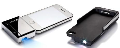 Zwei neue #iPhone-Beamer von @AIPTEKeurope. Fancy equipment i like ;)
