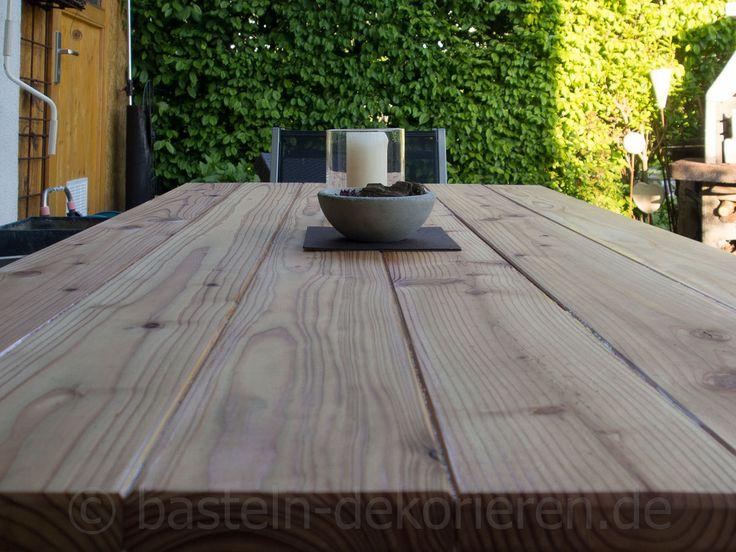 Gartentisch aus holz selber machen bastelanleitung wie aus einem alten glastisch ein neuer diy gartentisch