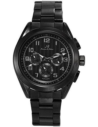 KS Herren Armbanduhr Analog Mechanische Uhr Tag/Datum/24 Stunden Stahl Band Dress Automatikuhr KS289 - http://uhr.haus/ks/ks-herren-armbanduhr-analog-mechanische-uhr-tag-4
