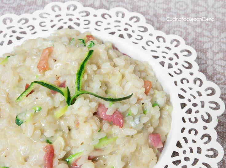 risotto al gorgonzola zucchine e pancetta
