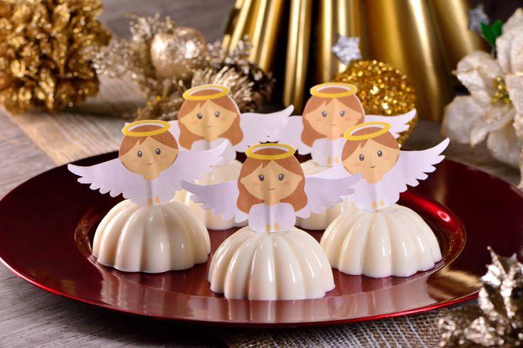 Prepara estas gelatinas de angelito para tus fiestas, le dan un toque increible a este postre individual y complementan tu decoración. Serán la sensación.