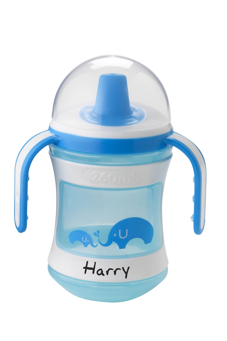 Tommee Tippee® discovera® Trainer Cup 6m+ #sippycup #tommeetippeeau #discovera #cutecup #harry #blue #babyshower #giftregistry #cupwithhandles