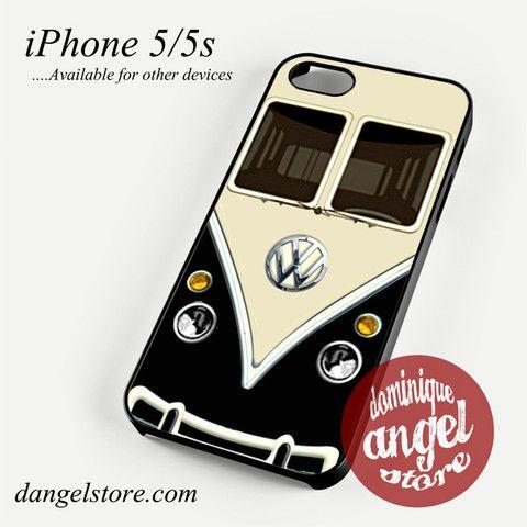 black vw retro bus Phone case for iPhone 4/4s/5/5c/5s/6/6 plus