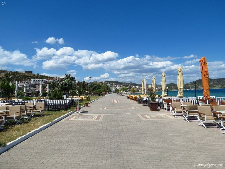 The promenade in Nea Peramos - hotels, holiday, seaside resort and Blue Flag beach - Kavala Region