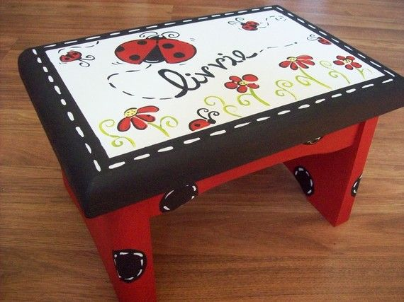 Ladybug Step Stool by MelanieLupien on Etsy