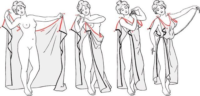 As long as I remember myself I wanted one in my wardrobe. For those like me here are 2 simple ideas how to make a Greek dress.