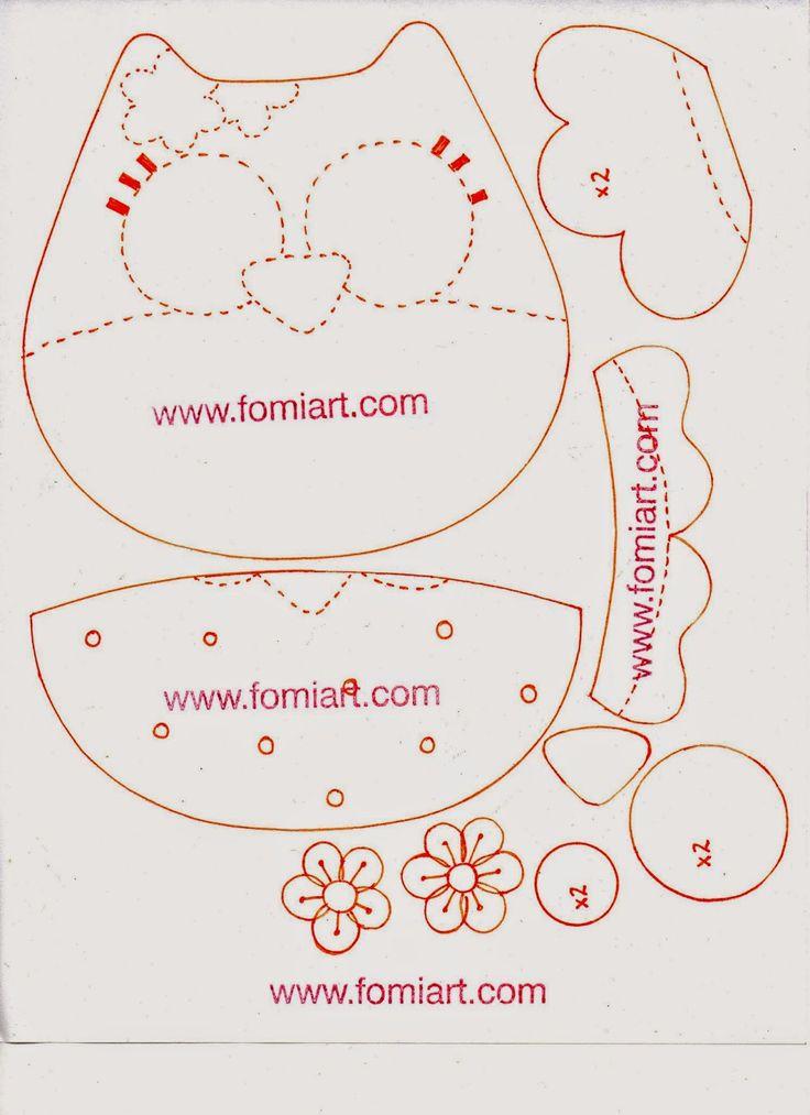 1000+ ideas sobre Buhos En Foami en Pinterest | Lechuzas de tela ...