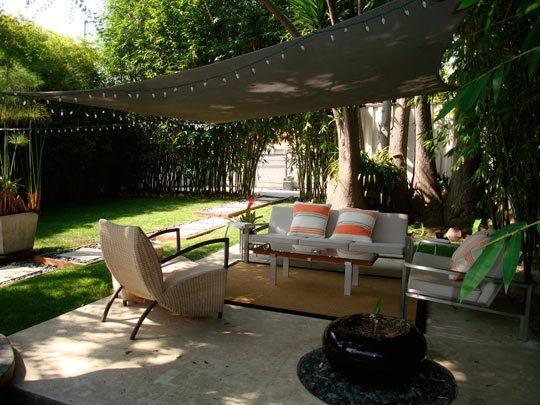 My Great Outdoors: Steveu0027s Zen Backyard. Patio Shade SailsBackyard ...