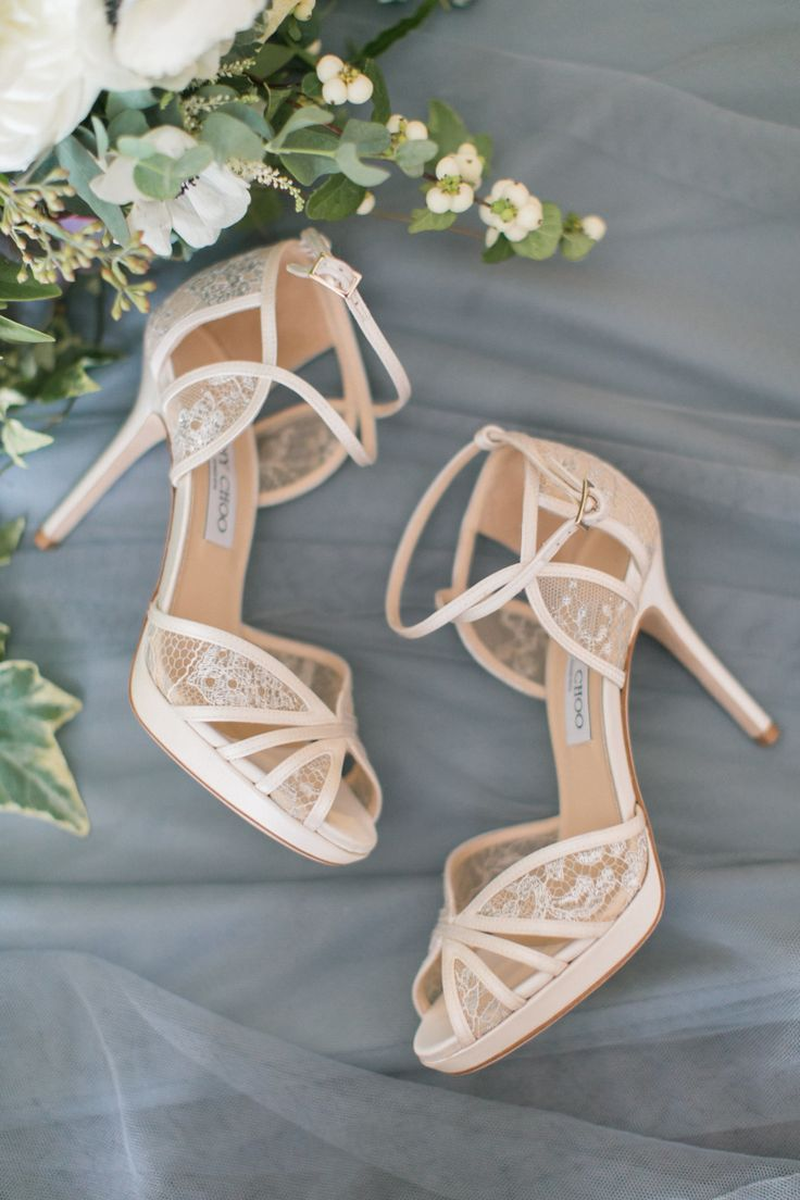 Nude lace Jimmy Choo stilettos: Photography - Assistance: Mekina Saylor Weddings - mekinasaylor.com Photography: Amy Rizzuto Photography - www.amyrizzutophotography.com Read More on SMP: http://www.stylemepretty.com/2017/02/28/a-whimsical-farm-wedding-for-meant-to-be-lovebirds/