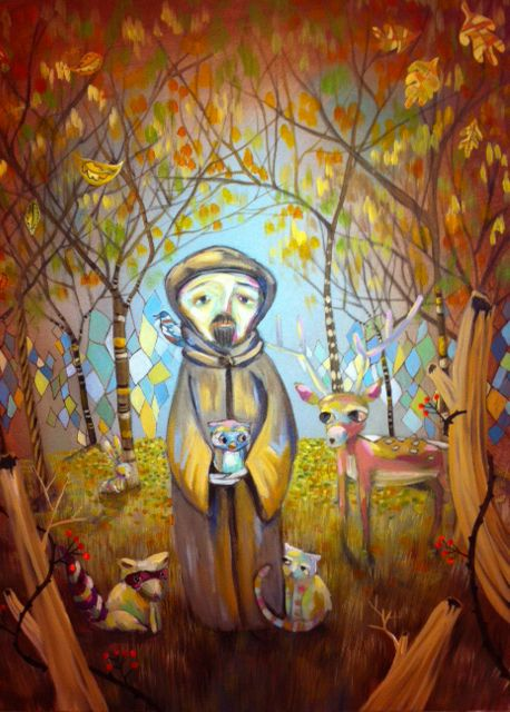Saint Francis Assisi by painter Heather Renaux