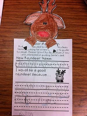 Welcome to Room 36!: Reindeer and The Grinch. Reindeer applications, interactive writing and song