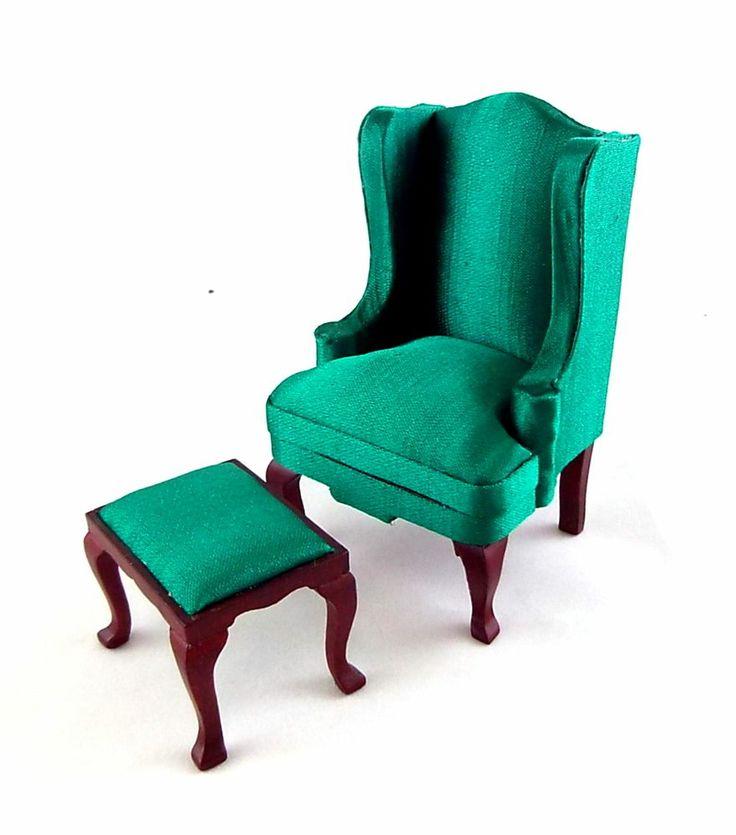 Dolls House Miniature Furniture Queen Anne Emerald